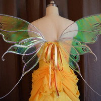 Medium Curly Iridescent Fairy Wings