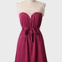raspberry torte ruffled dress by Tulle at ShopRuche.com