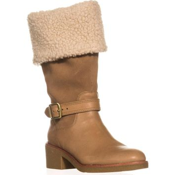 Coach Parka Cold-Weather Boots, Camel/Natural, 6 US / 36 EU