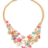 Multi-Strand Floral Necklace