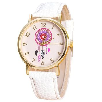 Women Casual Colorful Dream Catcher Dial Wrist Watch
