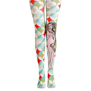 Art Pantyhose Character Print Tights Women Elastic Leggings Female Hosiery Classic Pantyhose Tights