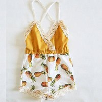Lace Pineapple Romper