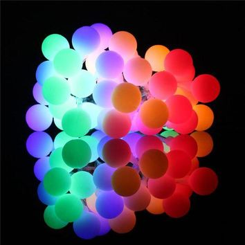 DCCK0OQ 4.2 meters 40 frosted ball battery string light Christmas tree Festival indoor decorative lights [18778095636]