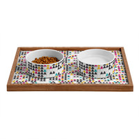 Andrea Victoria Fun Geo Pet Bowl and Tray