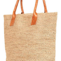 Leather Handle Straw Shopper - Shoppers - Bags & Purses - Accessories - Topshop
