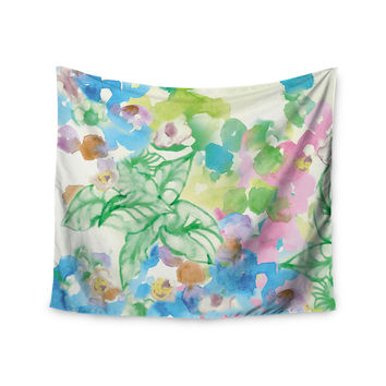 "Sonal Nathwani ""Leaf Bouquet"" Wall Tapestry"