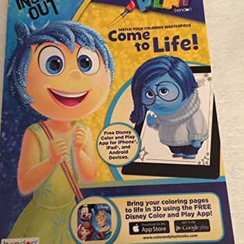 Disney Pixar Inside Out Coloing Book, Play Pack Grab & Go, Scented Markers