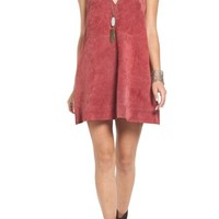Free People 'Retro Love' Suede Trapeze Minidress | Nordstrom