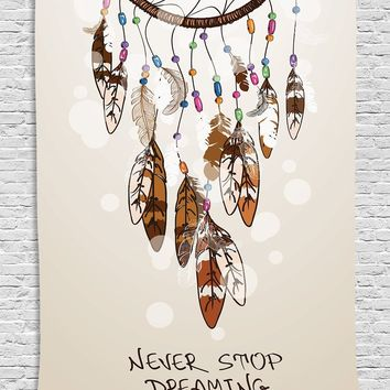 Never Stop Dreaming Wall Boho Tapestry