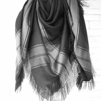 Blanket Scarf , Women Scarf , Plaid Scarf , Plaid Blanket Scarf , Valentine's Gift  Scarf Women fashion Accessories Winter Accessories
