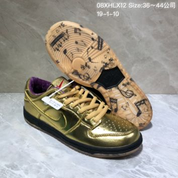 KUYOU N954 Humidity X Nike SB Dunk Low QS Trumpet Casual Skate Shoes Gold Purple