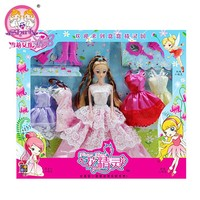 2015 New lot accessories for Barbie doll Princess Wedding Gift Set Dream wardrobe girl doll toy play house Authentic