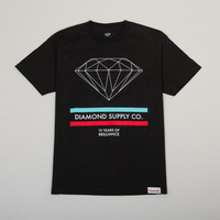 Diamond Supply Co. 15 Years of Brilliance Men's T-shirt in Black (B13-P107-BLK)
