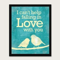 I can't help falling in love with you by MeganRene on Etsy