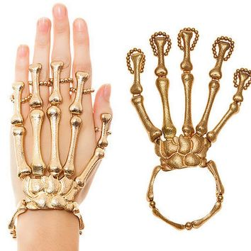 skeleton hand bracelet for halloween and all occasions great conversation piece se