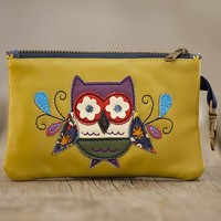 Owl  Vegan  Leather  ID  Pouch  From  Natural  Life
