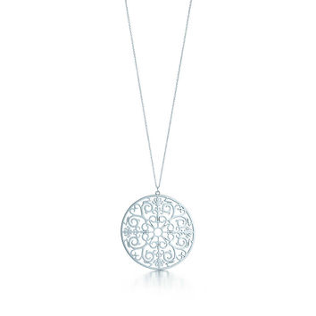 Tiffany & Co. - Tiffany Enchant® round pendant in sterling silver, medium.
