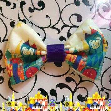 Disney It's a Small World - Inspired Bow