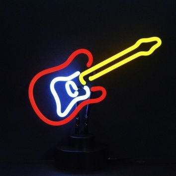 Electric Guitar Neon Sculpture