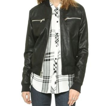 RtA Leather Bomber Jacket