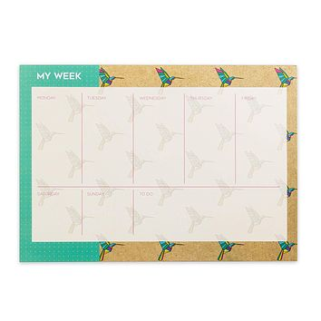 Origami Weekly Planner with Two Magnets
