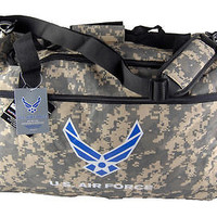 "Military Official Licensed Product ""U.S. Air Force"" CAMO Camouflage Duffle Bag"