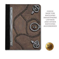 Leather tablet case - Hocus Pocus Spell Book vintage book cover