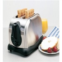 Wide Slot Stainless Steel 2-Slice Toaster Dorm Breakfast Snacking Recipes Cooking College