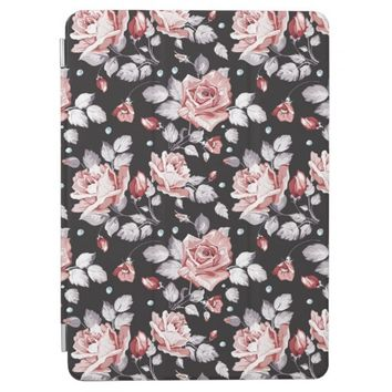 Vintage Pink Floral Pattern Apple iPad Pro Cover