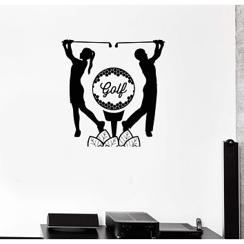 Vinyl Wall Decal Golf Player English Ball Sports Game Stickers Mural Unique Gift (ig3291)