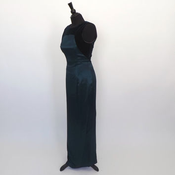 Vintage 90s does 1960s Green Wiggle Dress Bombshell Sheath Dress Party Cocktail Mad Men Small Prom Gown Marilyn Monroe Mad Men Victorian