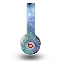 The Vivid Blue Sagging Painted Surface Skin for the Original Beats by Dre Wireless Headphones