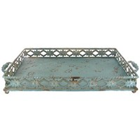 Rustic Metal Tray with Decorative Sides | Shop Hobby Lobby