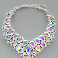 Sfarzo Crystal Statement Necklace
