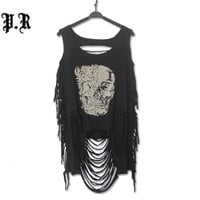 Crop Top Cropped Sexy Tank Fashion Casual Punk Rock Pok Streetwear Hollow Out Tanks Bustier Women's Clothing Clothes