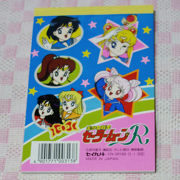 Sailor Moon 90's original Memo Pad with sticker sheet (B)