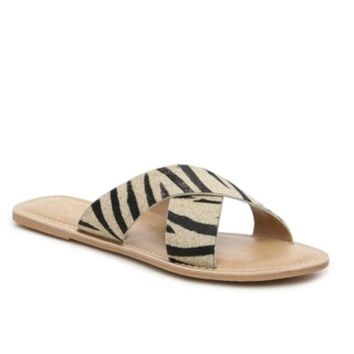 Matisse Pebble Zebra Animal Print Sandal