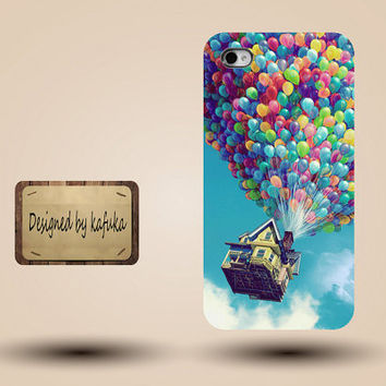 unique iphone case, i phone 4 4s 5 case,cool cute iphone4 iphone4s  5 case,stylish plastic rubber cases cover,balloon house  fly  p944