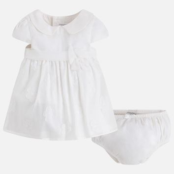 Mayoral Baby Girls' Two-Piece Dress with Embroidered Tulle