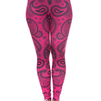 Bandana Printed Slim Fit Workout Aztec Leggings