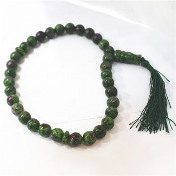 Natural stone green 33 TESBIH beads