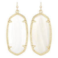 Kendra Scott Elle Drop Earrings White Mother of Pearl