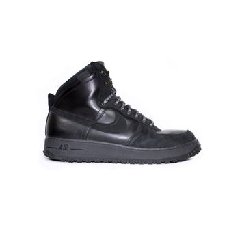 NIKE Air Force 1 High DCN Military Boot - black leather boots - 537889-010 - mens shoes size 13