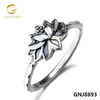 S925 Lotus Ring 925 Sterling Silver NEW Lotus Flower Jewelry Symbol Namaste Yoga