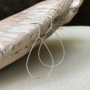 Large Sterling Silver Hoop Earrings, Silver Hoop Earrings, Large Hoop Earrings, Sterling Silver Hoop Earrings, Large Silver Hoop Earrings