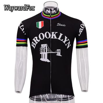 Men's retro short sleeve jersey black Cycling jerseys red/blue cycling clothing MTB/ROAD Bicycle clothes Bike Wear Quick Dry