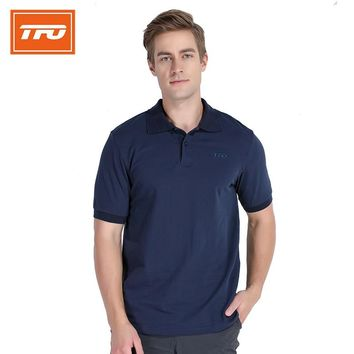TFO New Men Summer Breathable Quick Dry Anti-uv T-shirt Outdoor Sport Hiking Camping T Shirt Fishing Running Leisure Polo Shirt
