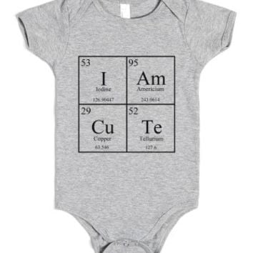 Cute Chemistry Baby Onsie-Unisex Heather Grey Baby Onesuit 00