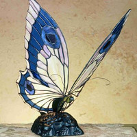 "0-007719>15""h Butterfly Accent Lamp"